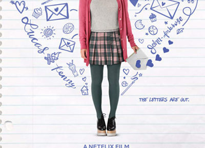 "The cover image of A Netflix Film ""To All the Boys I've Loved Before."" It features the movie's main character on a piece of notebook paper and surrounded by doodles in the shape of a heart."